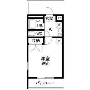 1K Mansion in Yata - Osaka-shi Higashisumiyoshi-ku Floorplan