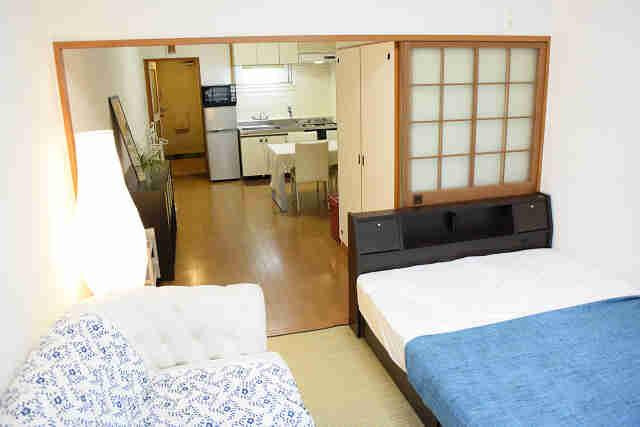 1LDK Apartment to Rent in Osaka-shi Chuo-ku Bedroom