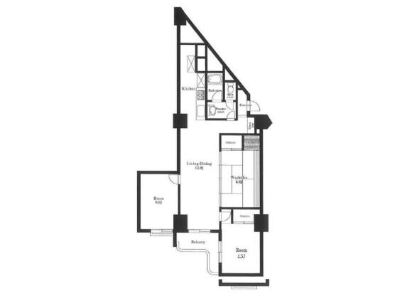 3LDK Apartment to Rent in Kita-ku Floorplan