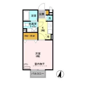 富士見市 ふじみ野東 1K アパート 間取り