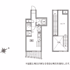 1R Mansion in Unoki - Ota-ku Floorplan