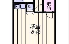 1R Apartment in Sakasaifujinodai - Kashiwa-shi