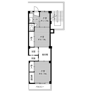 3K Mansion in Kisabe(chome) - Katano-shi Floorplan