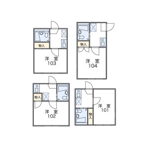 1K Apartment in Miyasaka - Setagaya-ku Floorplan
