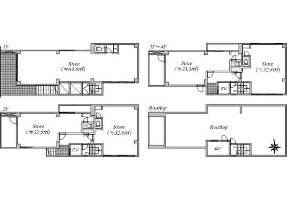 Whole Building Office to Buy in Kyoto-shi Higashiyama-ku Floorplan