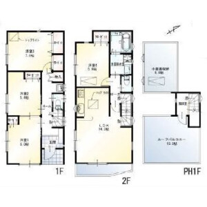4LDK {building type} in Nishikasai - Edogawa-ku Floorplan