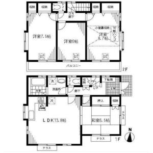 4LDK House in Sanno - Ota-ku Floorplan