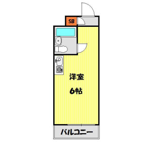 1R Mansion in Shimoigusa - Suginami-ku Floorplan