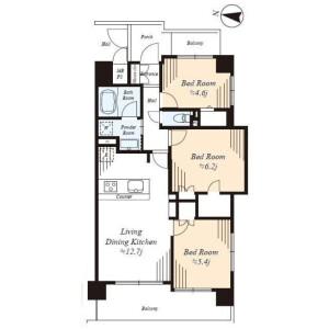 3LDK Apartment in Higashigotanda - Shinagawa-ku Floorplan