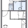 在羽島市內租賃1K 公寓 的房產 房間格局