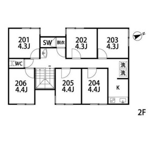 483【ZoshikiⅢ】KABOCHA NO BASHA			 - Serviced Apartment, Ota-ku Floorplan