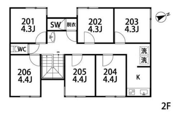 Private Serviced Apartment to Rent in Ota-ku Floorplan