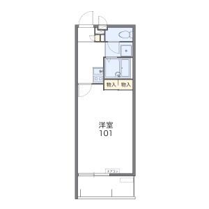 1K Mansion in Ojana - Ginowan-shi Floorplan