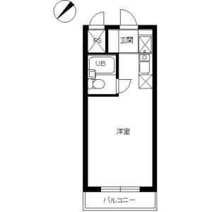 1R Mansion in Futagocho - Funabashi-shi Floorplan
