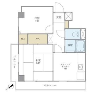 2DK Mansion in Honkomagome - Bunkyo-ku Floorplan