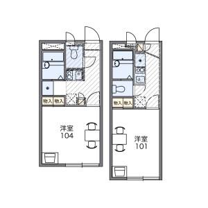 1K Apartment in Kamoi - Yokohama-shi Midori-ku Floorplan