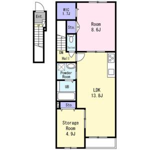 1SLDK Mansion in Kyodo - Setagaya-ku Floorplan