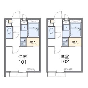 世田谷區代田-1K公寓大廈 房間格局