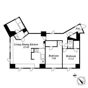 2LDK Mansion in Takada - Toshima-ku Floorplan