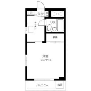 川崎市高津区下作延-1K公寓大廈 房間格局