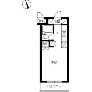 1R Mansion in Ishikawacho - Yokohama-shi Naka-ku Floorplan
