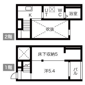 名古屋市中川區荒子-1K公寓 房間格局