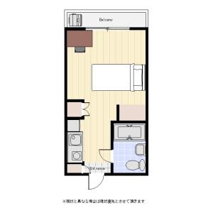 1R Mansion in Horinochi - Suginami-ku Floorplan