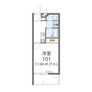 1K Mansion in Chibana - Okinawa-shi Floorplan
