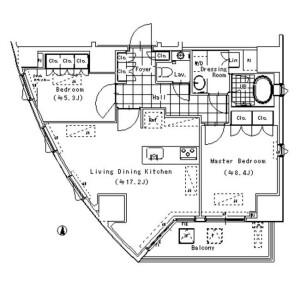 港区南青山-2LDK公寓 楼层布局