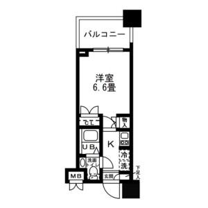 1K Mansion in Kinshi - Sumida-ku Floorplan