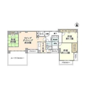 2LDK Apartment in Hirano - Koto-ku Floorplan