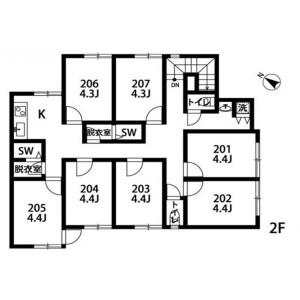 285【Heiwadai】STEP CLOUD - Guest House in Nerima-ku Floorplan