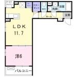 1LDK アパート
