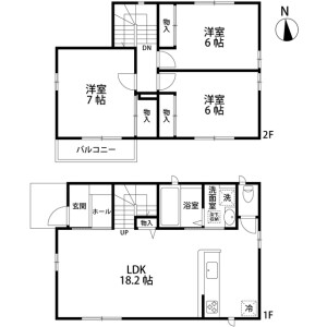 3LDK House in Soga - Chiba-shi Chuo-ku Floorplan