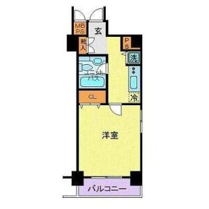 港區元赤坂-1K公寓大廈 房間格局