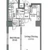 1LDK 맨션 to Rent in Minato-ku Floorplan
