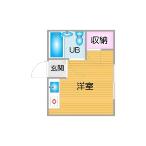 1R Mansion in Kishinosatohigashi - Osaka-shi Nishinari-ku Floorplan