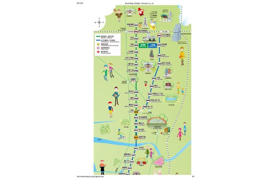 1K Apartment to Rent in Osaka-shi Sumiyoshi-ku Map