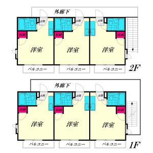 日野市程久保-(整棟)樓房{building type} 房間格局
