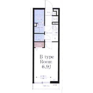 1K Mansion in Tsuboinishi - Funabashi-shi Floorplan