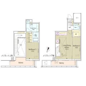 2LDK Mansion in Sasazuka - Shibuya-ku Floorplan