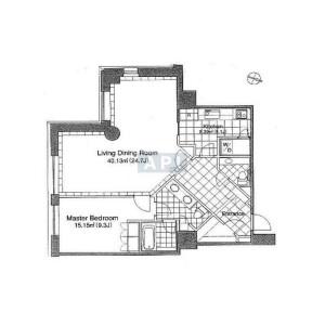 港區赤坂-1LDK公寓 房間格局