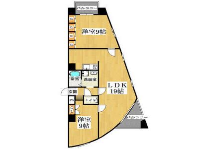 2LDK Apartment to Rent in Osaka-shi Higashinari-ku Floorplan