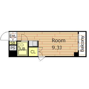 1R Mansion in Honjonishi - Osaka-shi Kita-ku Floorplan