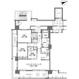 3LDK {building type} in Kubota - Okinawa-shi Floorplan