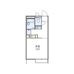鶴ヶ島市鶴ヶ丘-1K公寓 楼层布局