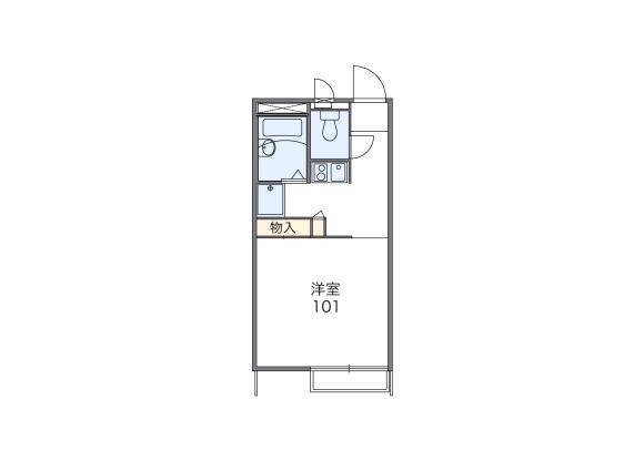 在鶴ヶ島市內租賃1K 公寓 的房產 房間格局