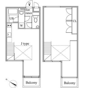 1SLDK Mansion in Meguro - Meguro-ku Floorplan