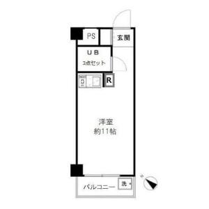 1R {building type} in Namamugi - Yokohama-shi Tsurumi-ku Floorplan