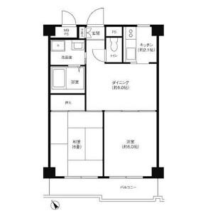 2DK Mansion in Suenaga - Kawasaki-shi Takatsu-ku Floorplan